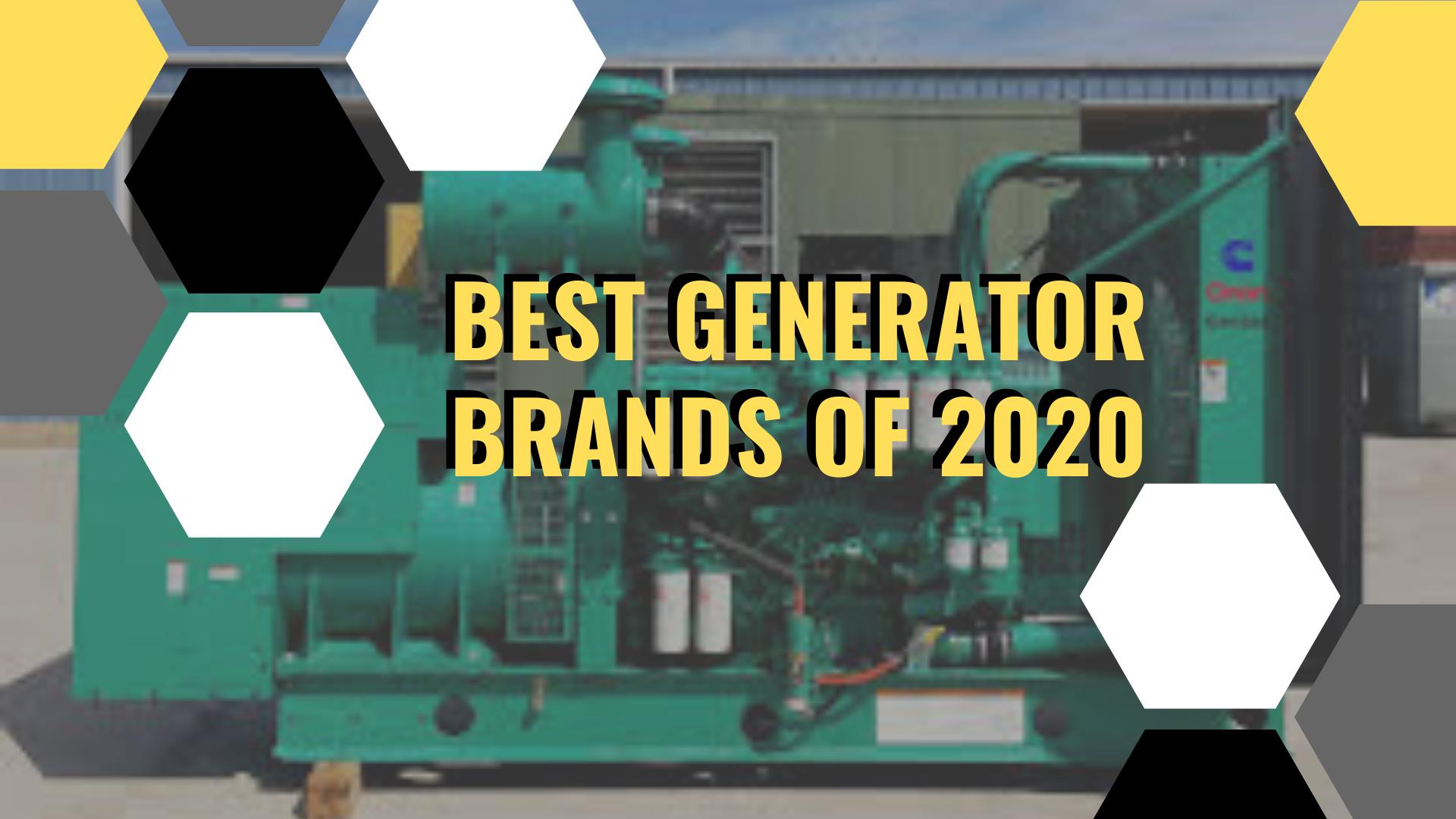 best generator brands 2020