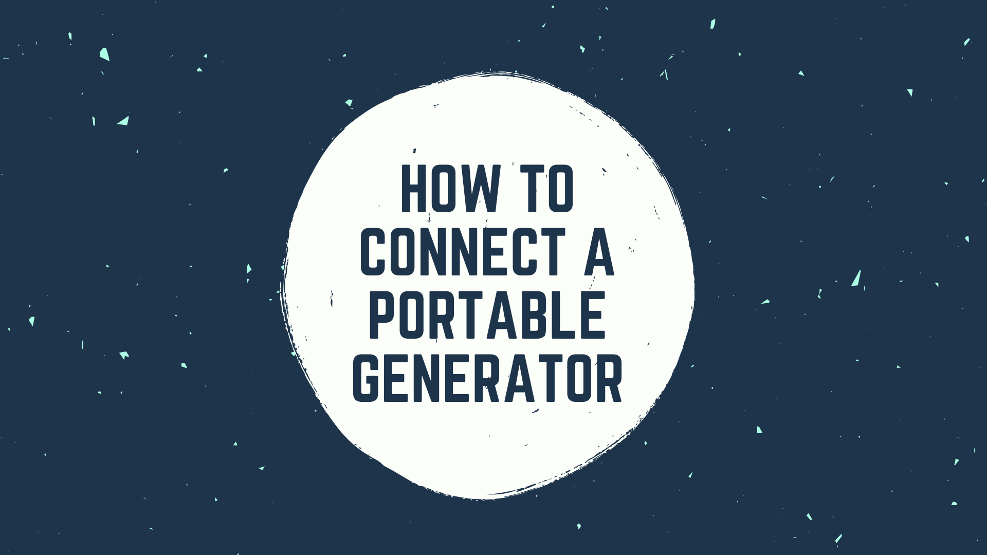 connect portable generator
